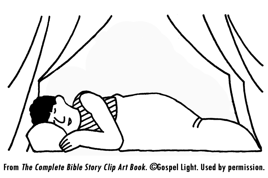God Speaks To Samuel Coloring Page #1