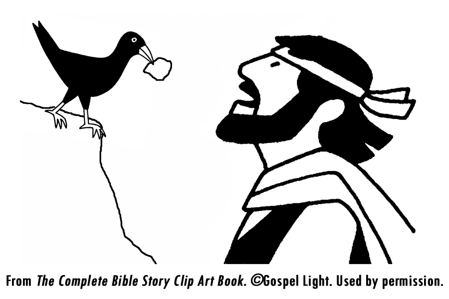 elijah fed by crows colouring pages page 2 - Elijah Bible Story Coloring Pages