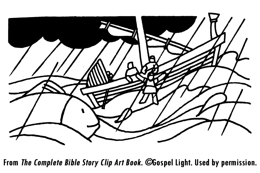 Free Coloring Pages Of Storm At Sea Jonah