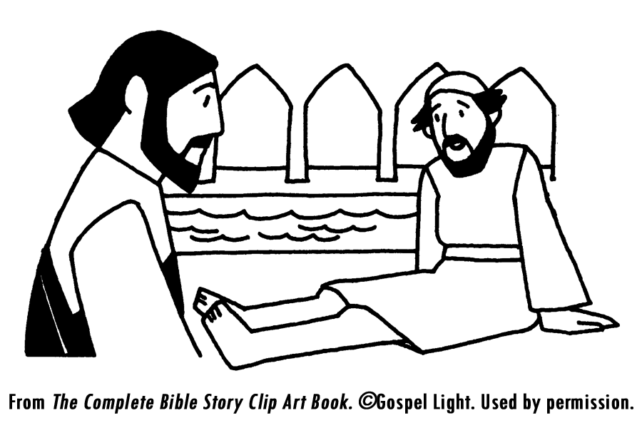 Healing of man by the pool mission bible class for Healing at the pool of bethesda coloring page