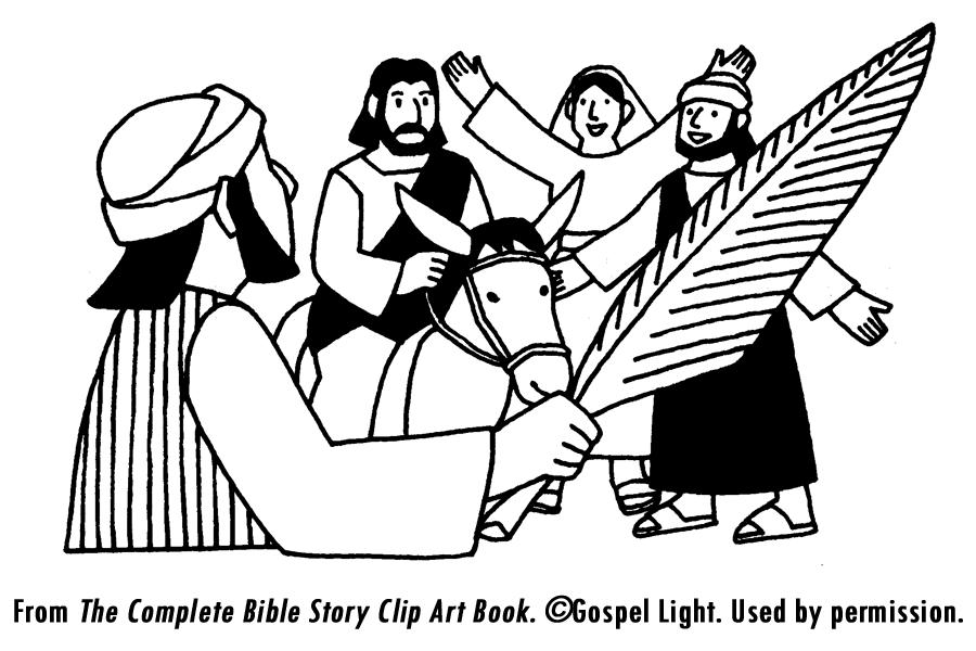 jesus triumphal entry coloring pages - photo #21