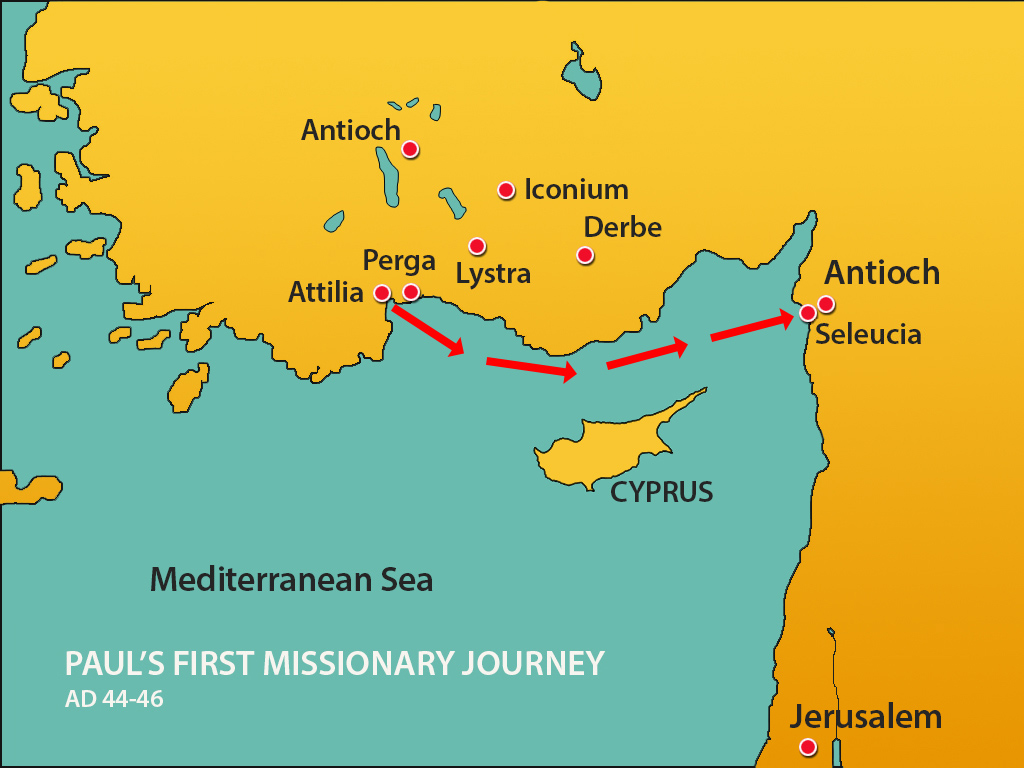 Pauls 1st Missionary Journey Lystra  Mission Bible Class