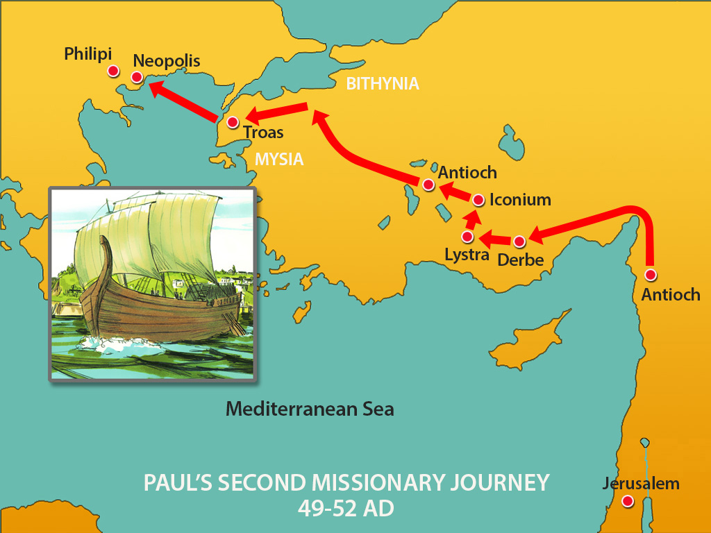 Paul's Second Missionary Journey, 49-52 AD
