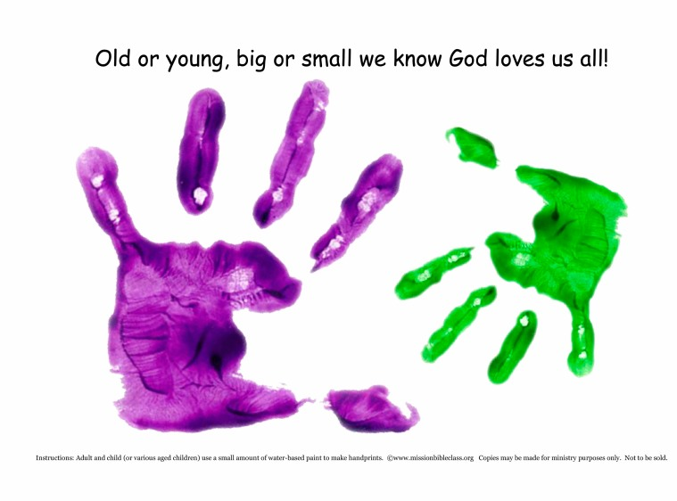 Multi-age handprints