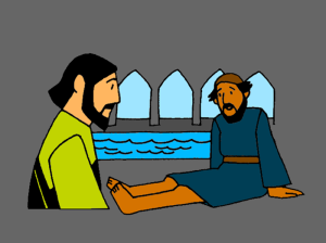 healing at the pool of bethesda coloring page - healing of a man by a pool mission bible class