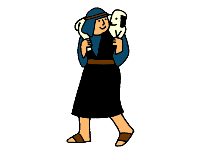 clipart of jesus with sheep - photo #49