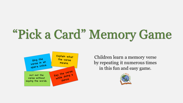 Pick a Card (Memory Verse Game)