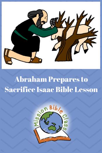 Abraham Prepares to Sacrifice Isaac Pin