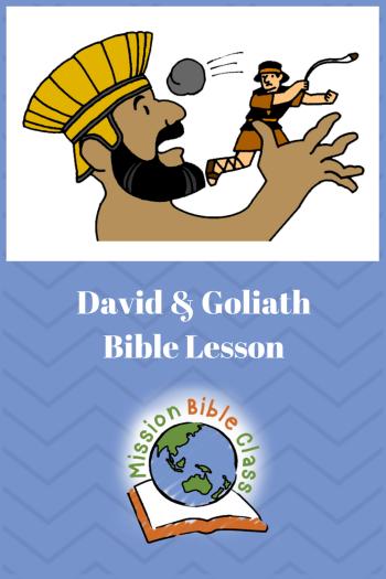 David and Goliath Pin