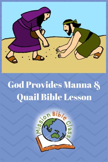God Provides Water, Manna, and Quail Pin