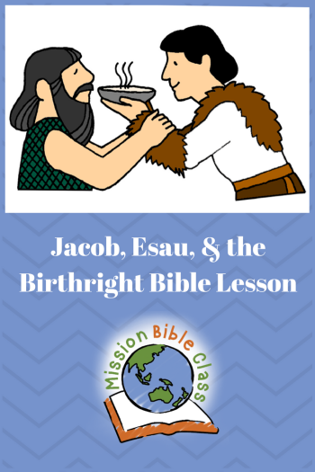 Jacob Esau And The Birthright Pin