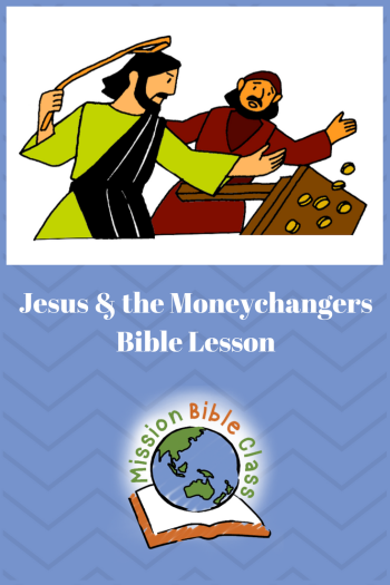Jesus and the Moneychangers Pin