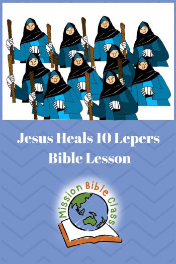 Jesus Heals Ten Lepers Pin