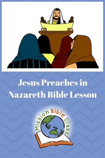 Jesus Preaches in Nazareth Pin