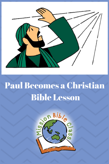 Paul Becomes A Christian Pin
