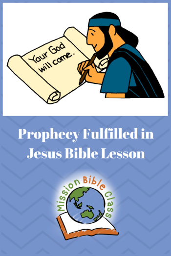 Prophecy Fulfilled in Jesus Pin