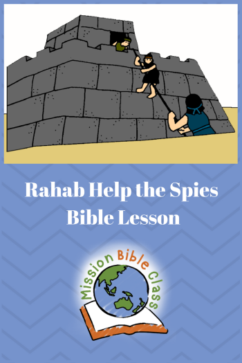 Rahab Helps the Spies Pin