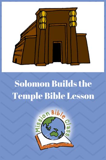 Solomon Builds the Temple Pin