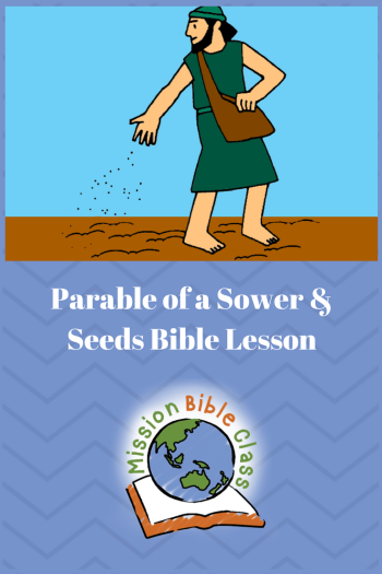 The Parable of a Sower and Seeds Pin
