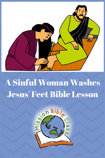 The Sinful Woman Washes Jesus_ Feet Pin
