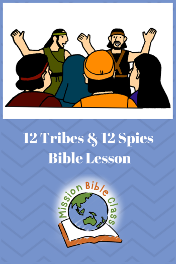 Twelve Tribes and Twelve Spies Pin